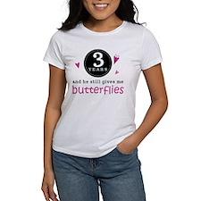 3rd Anniversary Butterflies Tee