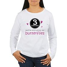 3rd Anniversary Butterflies T-Shirt