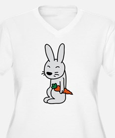 bunny_with_carrot Plus Size T-Shirt