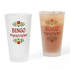 Bingo Joy Drinking Glass