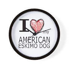 Red Heart Amer Eskimo Wall Clock