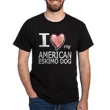 Red Heart Amer Eskimo T-Shirt