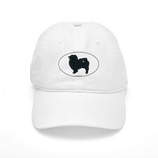 Keeshond Silhouette Baseball Cap