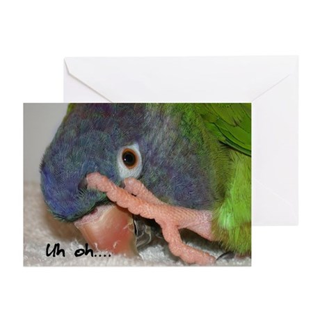 Blue Crowned Conure Greeting Cards (10 Pk)