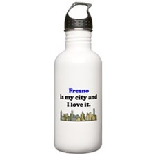 Fresno Is My City And I Love It Water Bottle
