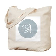 Grey Medallion Monogram A Tote Bag