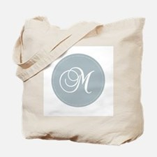 Grey Medallion Monogram M Tote Bag