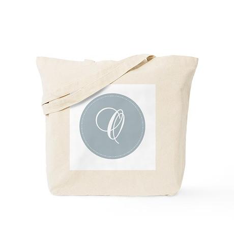 Grey Medallion Monogram O Tote Bag