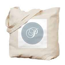 Grey Medallion Monogram P Tote Bag