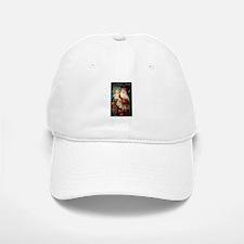 Santa holding Jesus Baseball Baseball Cap