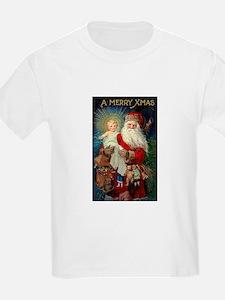 Santa holding Jesus Kids T-Shirt