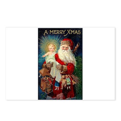 Santa holding Jesus Postcards (Package of 8)