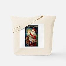 Santa holding Jesus Tote Bag