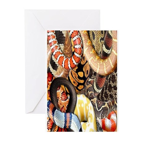 Snake Collage Greeting Cards (Pk of 10)