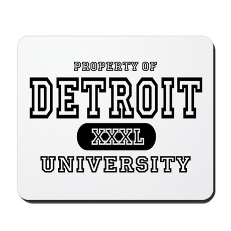 Detroit University Mousepad