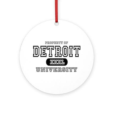 Detroit University Ornament (Round)