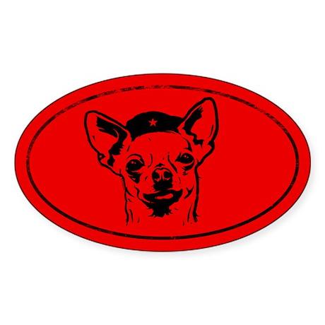 Revolucion CHIHUAHUA! Icon Oval sticker