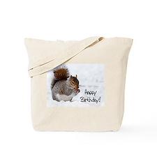 Happy Birthday Squirrel Tote Bag