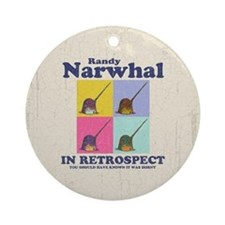 Randy Narwhal Ornament (Round)