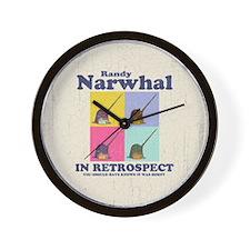 Randy Narwhal Wall Clock