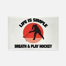 Play Hockey Rectangle Magnet