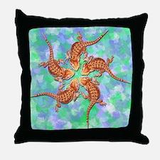 Baby Bearded Dragon throw pillow (multi)
