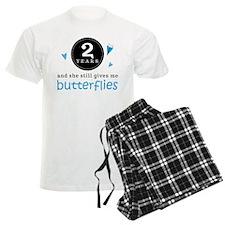 2 Year Anniversary Butterfly Pajamas
