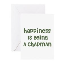 Happiness Is Being A CHAPMAN Greeting Cards (Packa