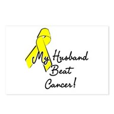 My Husband beat cancer Postcards (Package of 8)