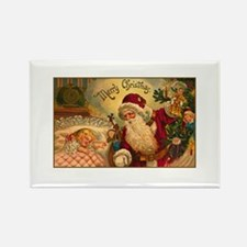 Victorian Santa Claus Scene Rectangle Magnet