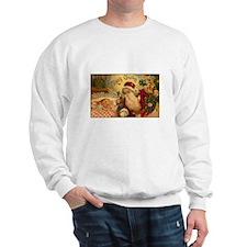 Victorian Santa Claus Scene Sweatshirt