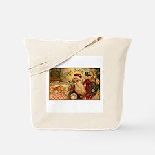 Victorian Santa Claus Scene Tote Bag
