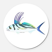 Roosterfish fish Round Car Magnet