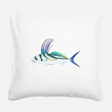 Roosterfish fish Square Canvas Pillow