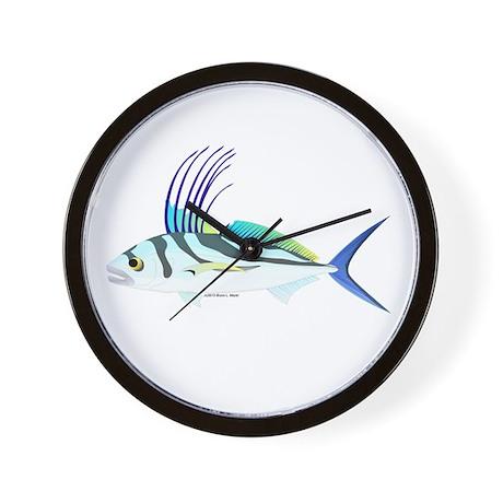 Roosterfish fish wall clock by combatfishingoffshorefish for Fish wall clock