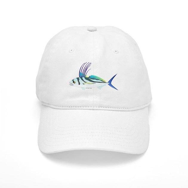 Roosterfish fish baseball cap by combatfishingoffshorefish for White cap fish