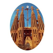 Low angle view of the sagrada fami Ornament (Oval)