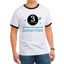 3 Year Anniversary Butterfly T
