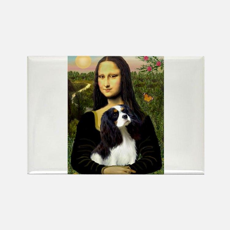 Mona's Tri Cavalier Rectangle Magnet