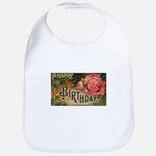 Victorian Birthday Rose Bib