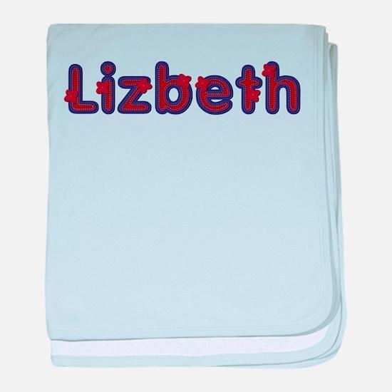 Lizbeth Red Caps baby blanket