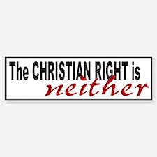 Christian Right Bumper Bumper Bumper Sticker