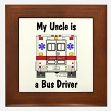 Bus Driver Uncle Framed Tile