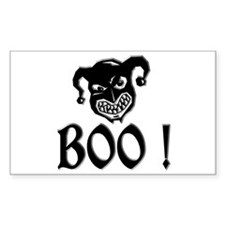 BOO - Evil Face Rectangle Decal