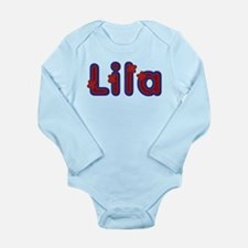 Lila Red Caps Body Suit