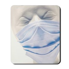 Mannequin wearing surgical mask Mousepad