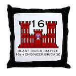 16th Engineer Brigade Throw Pillow
