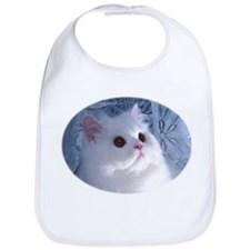 White Persian Kitty Bib for Baby