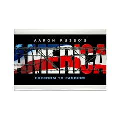 America-B Rectangle Magnet