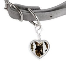Studio shot of three soldiers Small Heart Pet Tag